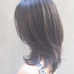 大人かわいい オフィス イルミナカラー フェミニン ヘアスタイルや髪型の写真・画像