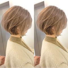 切りっぱなしボブ ショート ミニボブ ショートヘア ヘアスタイルや髪型の写真・画像