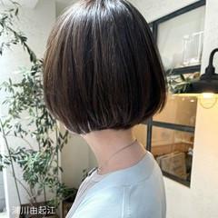 ストレート ナチュラル 縮毛矯正 ボブ ヘアスタイルや髪型の写真・画像