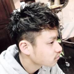 黒髪 坊主 ショート パーマ ヘアスタイルや髪型の写真・画像