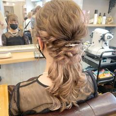 ミディアム ヘアアレンジ ガーリー モテ髪 ヘアスタイルや髪型の写真・画像