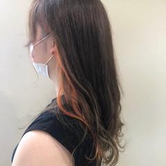 オレンジ オレンジカラー エレガント アクセサリーカラー ヘアスタイルや髪型の写真・画像