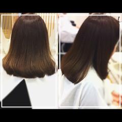 髪質改善 髪質改善トリートメント 髪質改善カラー セミロング ヘアスタイルや髪型の写真・画像