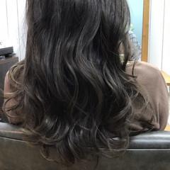 グラデーションカラー インナーカラー 波ウェーブ ゆるふわ ヘアスタイルや髪型の写真・画像