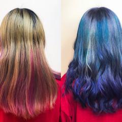 デザインカラー ストリート ハイトーン 派手髪 ヘアスタイルや髪型の写真・画像
