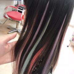 ハイライト ガーリー 韓国ヘア エクステ ヘアスタイルや髪型の写真・画像