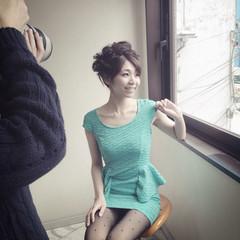 大人かわいい アップスタイル ヘアアレンジ パーティ ヘアスタイルや髪型の写真・画像