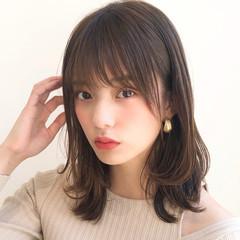 ミディアム デジタルパーマ 大人かわいい ナチュラル ヘアスタイルや髪型の写真・画像