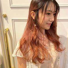 ロング グラデーションカラー エレガント ヘアスタイルや髪型の写真・画像