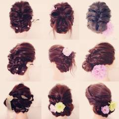 和装 夏 まとめ髪 ヘアアレンジ ヘアスタイルや髪型の写真・画像