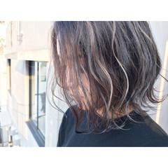 アンニュイ ボブ 波ウェーブ 外国人風 ヘアスタイルや髪型の写真・画像