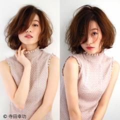 ミディアム 大人かわいい フェミニン コンサバ ヘアスタイルや髪型の写真・画像