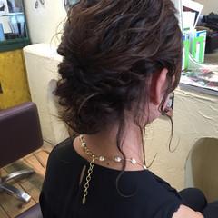 ナチュラル 結婚式 簡単ヘアアレンジ デート ヘアスタイルや髪型の写真・画像