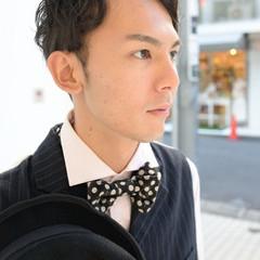 メンズ パーマ 外国人風 黒髪 ヘアスタイルや髪型の写真・画像