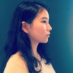 暗髪 ゆるふわ パーマ ロング ヘアスタイルや髪型の写真・画像