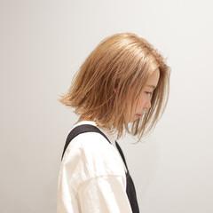 ボブ 切りっぱなしボブ ブリーチ必須 髪質改善トリートメント ヘアスタイルや髪型の写真・画像