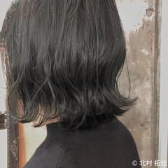 ブルージュ ボブ 透明感カラー 切りっぱなしボブ ヘアスタイルや髪型の写真・画像