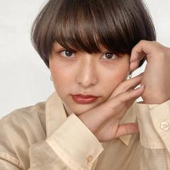 ショートヘア 前髪パーマ ショートボブ モテ髪 ヘアスタイルや髪型の写真・画像