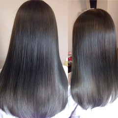 グラデーションカラー フェミニン ロング コンサバ ヘアスタイルや髪型の写真・画像