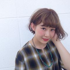 パーマ ヘアアレンジ 夏 グラデーションカラー ヘアスタイルや髪型の写真・画像