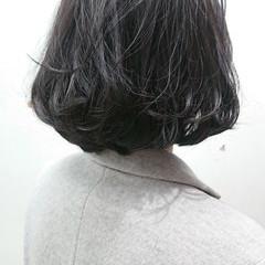 ボブ 美シルエット 簡単スタイリング  ヘアスタイルや髪型の写真・画像