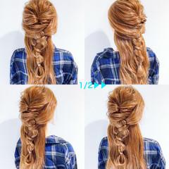 ヘアアレンジ 三つ編み 上品 エレガント ヘアスタイルや髪型の写真・画像