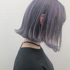 ショートボブ ボブ イルミナカラー ガーリー ヘアスタイルや髪型の写真・画像