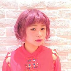 ガーリー フェミニン レッド 外国人風 ヘアスタイルや髪型の写真・画像