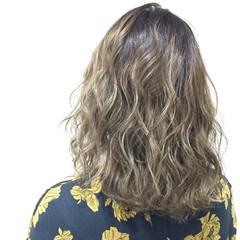 外国人風 グラデーションカラー アッシュ ガーリー ヘアスタイルや髪型の写真・画像