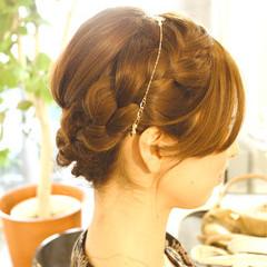 清楚 ミディアム ヘアアレンジ 結婚式 ヘアスタイルや髪型の写真・画像
