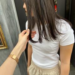 オリーブカラー オリーブグレージュ オリーブ オリーブベージュ ヘアスタイルや髪型の写真・画像