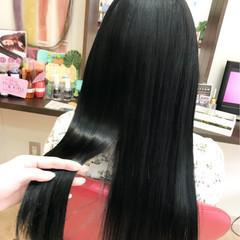 オルチャン 黒髪 ナチュラル ロング ヘアスタイルや髪型の写真・画像