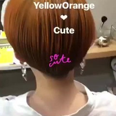 オレンジ アッシュ ナチュラル イエロー ヘアスタイルや髪型の写真・画像
