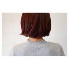 ボブ イルミナカラー ラベンダーピンク ピンク ヘアスタイルや髪型の写真・画像