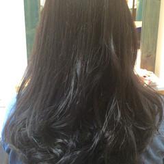 アッシュ ロング ガーリー 外国人風 ヘアスタイルや髪型の写真・画像