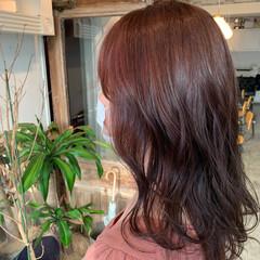 ナチュラル セミロング 透明感カラー 大人可愛い ヘアスタイルや髪型の写真・画像