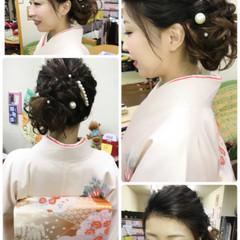 エレガント 上品 結婚式 アップスタイル ヘアスタイルや髪型の写真・画像