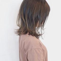 外国人風カラー フェミニン グラデーションカラー ミディアム ヘアスタイルや髪型の写真・画像