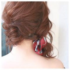 ハーフアップ 春 ミディアム エレガント ヘアスタイルや髪型の写真・画像