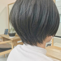 大人女子 大人かわいい ショートボブ ナチュラル ヘアスタイルや髪型の写真・画像