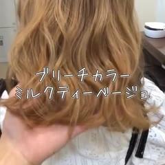ミディアム 外国人風 フェミニン 透明感 ヘアスタイルや髪型の写真・画像