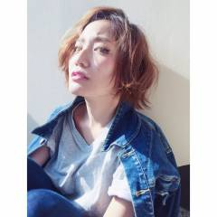 暗髪 モード ショート ウェットヘア ヘアスタイルや髪型の写真・画像