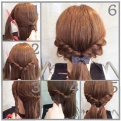 ナチュラル 大人かわいい ヘアアレンジ ストリート ヘアスタイルや髪型の写真・画像