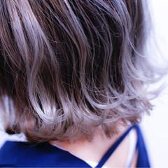 グラデーションカラー ダブルカラー ストリート ボブ ヘアスタイルや髪型の写真・画像