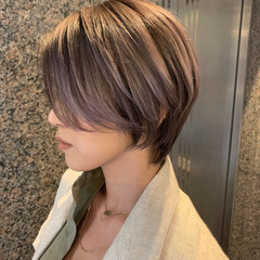 ショートボブ マッシュショート フェミニン ショート ヘアスタイルや髪型の写真・画像