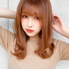 デート ミディアム デジタルパーマ ミディアムレイヤー ヘアスタイルや髪型の写真・画像
