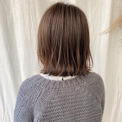 ナチュラル 切りっぱなしボブ ショートボブ ボブ ヘアスタイルや髪型の写真・画像