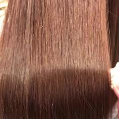 セミロング トリートメント ヘアカラー フェミニン ヘアスタイルや髪型の写真・画像
