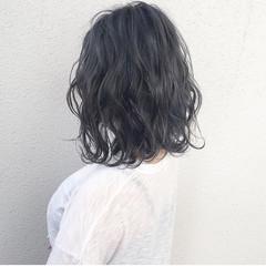 ロブ ボブ ストリート 暗髪 ヘアスタイルや髪型の写真・画像