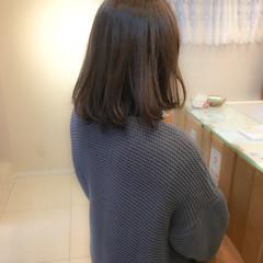 透明感 ナチュラル フェミニン ミディアム ヘアスタイルや髪型の写真・画像
